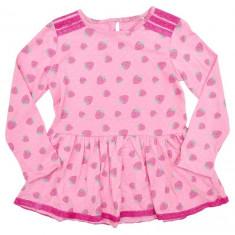 Haine Copii 4 - 6 ani, Bluze - NOU !! - Bluza tip rochita fetite - 3 - 4 ani - *import Anglia* - bumbac