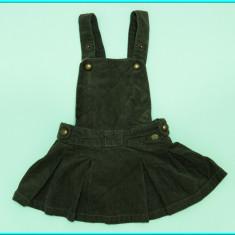 DE FIRMA _ Sarafan / fusta bretele, catifea, frumos, ZARA _ fete | 12 - 18 luni, Culoare: Khaki