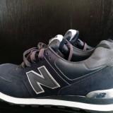 New ballance 574 - Adidasi barbati New Balance, Marime: 45, Culoare: Albastru, Piele naturala