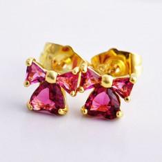 Set bijuterii placate cu aur - CERCEI 14*6mm aur filat galben