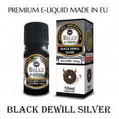 Tutun Pentru tigari de foi - Aroma de tigara electronica-Black dewill silver ( VANILIE SI CIOCOLATA) 0 % nic