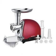 Masina de Tocat Carne, 1500 W - Masina de tocat Heinner MG1500TA-Red, 1500W, adaptor de suc de rosii si carnati