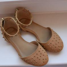 Pantofi Zara fete - Pantofi copii Zara, Culoare: Maro, Marime: 26