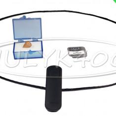 Casti Telefon, Galben, In ureche, Conectivitate bluetooth - CASCA JAPONEZA COLIER BLUETOOTH CASTI EXAMEN NANOCASCA MICROCASCA SISTEM BAC2016