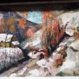 Tablou semnat R(osemblut) Iosif - Pictor roman, Peisaje, Ulei, Realism