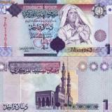 Bancnota Straine, Asia, An: 2009 - LIBIA 1 dinar 2009 - seria 7 UNC!!!