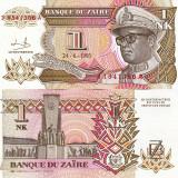ZAIR 1 nouveau likuta 1993 UNC!!!