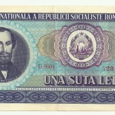 Bancnote Romanesti, An: 1966 - ROMANIA 100 LEI 1966 [15] VF+