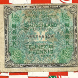 Bancnota de ocupatie-1/2 MARK 1944 Germania