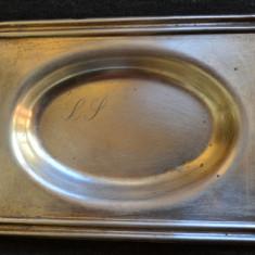 Tava argint masiv -35 grame / tavita veche din argint masiv foarte veche / Piesa veche argint cu marcaje, Vas