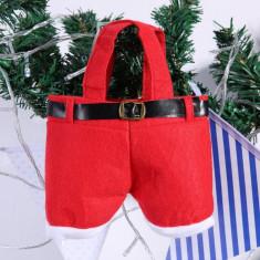 Pantalonasi Mos Craciun - decoratiune de sarbatoare - cadou inedit! - Ornamente Craciun