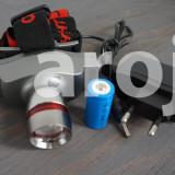Lanterna Frontala LED CREE 180 Lm reincarcabila