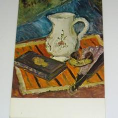 Carte postala tematica - Theodor Pallady - Natura cu cana si evantai - ARTA - PICTURA - necirculata anii 1980 - 2+1 gratis toate produsele la pret fix - RBK7124