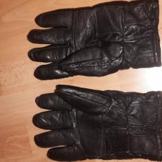 Manusi inblanite din Piele - Manusi Barbati, Marime: XL, Culoare: Negru