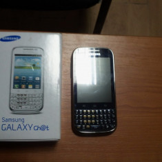 Samsung Galaxy Chat aproape nou - Telefon Samsung, Negru, 1GB, Neblocat, Single core, 512 MB