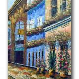 Alee cu flori 2 - tablou 90x60cm LIVRARE GRATUITA 24-48h - Reproducere