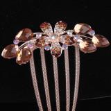 Clama - Accesoriu de par placat cu Aur 18k cuTopaz si cristale Swarovski Flower