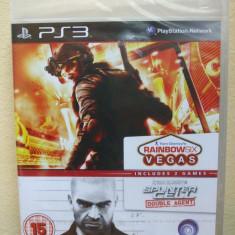 Ubisoft Double Pack - Rainbow Six Vegas & Splinter Cell Double Agent (PS3) SIGILAT!!! (ALVio) + sute de alte jocuri PS3 ( VAND / SCH, Actiune