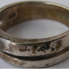 Inel vechi din argint cu piatra alba (9) - de colectie