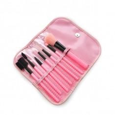Set 7 pensule machiaj, pensule fard farduri fond de ten blush - Pensula make-up