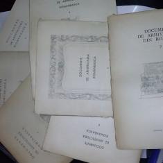 DOCUMENTE DE ARHITECTURA ROMANEASCA - Grigore Ionescu ( 192 planse din 200 ) -lipsesc 8 planse - Carte Arhitectura