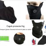Semi-Cagula masca protectie frig fleece neagra black Ski Snowboard Biking cover - Echipament Airsoft