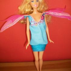 Barbie cu rochita cu 2 fete - Papusa Mattel