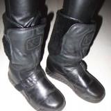 Botine bocanci cizme ghete moto cu platforma YOHJI YAMAMOTO ADIDAS Y-3 autentice piele si blana naturala 37 1/3