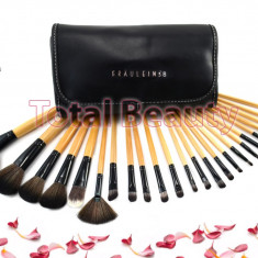 Pensula make-up - Trusa pensule machiaj profesionale 24 pensule par natural Fraulein Germania