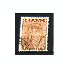 Timbru vechi stampilat - uzat - GRECIA - SF. ECATERINA - RESTAURAREA BISERICILOR - 1948 - 2+1 gratis toate produsele la pret fix - CHA491, Europa, Arta