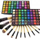 Trusa machiaj profesionala 120 culori Rainbow Fraulein Germania + Set 12 pensule - Trusa make up