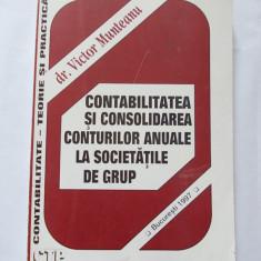 CONTABILITATEA SI CONSOLIDAREA CONTURILOR ANUALE A SOCIETATILOR DE GRUP VICTOR MUNTEANU ' - Carte Contabilitate