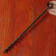 Metal/Fonta - Scule / unelte - Burghiu - sfredel vechi de mana pentru lemn - tamplarie !!
