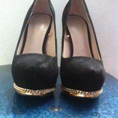 Pantofi ZARA Woman - Pantof dama Zara, Marime: 36, Negru