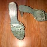 Pantofi STUDIO POLLINI originali masura 38, noi! 625 euro in magazin! piele de sarpe - Sandale dama, Culoare: Verde