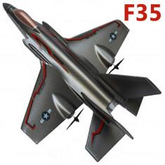 Avion de jucarie, Alte materiale, Unisex - SUPER AVION RADIOCOMANDAT F35 DE MARE DIMENSIUNE, TELECOMANDA R/C FULL CONTROL, AVION DE VANATOARE.
