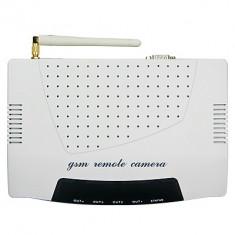 Sistem de alarma compact, complet, GSM SMS, camera GPRS MMS, 3 telecomenzi radio, 11 senzori radio, 1 senzor fir Paradox, cartela SIM, configurat - Sisteme de alarma