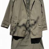 Costum dama, Costum cu fusta - Compleu 3 piese bumbac, masura M-L