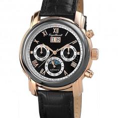 Ceas de lux Engelhardt Martin Rose Gold Black, original, nou, cu factura si garantie! - Ceas barbatesc Engelhardt, Mecanic-Automatic