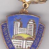 Insigna Fruntas in gospodarirea Orasului 1978