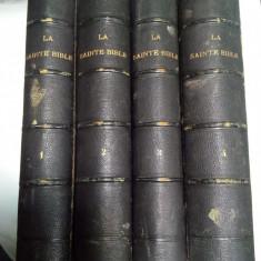 LA SAINTE BIBLE - 4 volume - Paris 1845 ( BIBLIA in limba franceza)