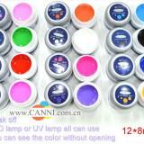 Geluri colorate set gel uv color 12 culori bucati COCO UV / LED / soak off geluri pure kit unghii false tehnice lampa uv - Gel unghii