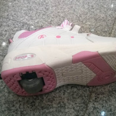 Pantofi copii, Fete - Pantofi Clickers cu role (fete)
