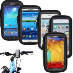 Suport bicicleta sau moto impermeabil Samsung Galaxy S3 Mini i8190 + folie - Suport telefon bicicleta