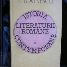 Istoria literaturii romane contemporane - E . Lovinescu - Studiu literar