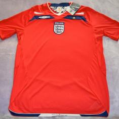 Tricou original Anglia, 2008-2010, Umbro - Tricou barbati Umbro, Marime: M, Culoare: Rosu, M, Maneca lunga, Rosu