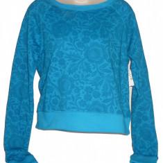 Nou Tricou XXL Aeropostale T Girl's Women's Long Sleeves Sweater - Tricou dama Aeropostale, Culoare: Albastru, Simplu, Maneca lunga, Bumbac