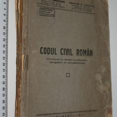 Carte Drept civil - CARTE VECHE - CODUL CIVIL ROMAN - 1947 - SALVATOR BRATEANU / GEORGE LUTESCU