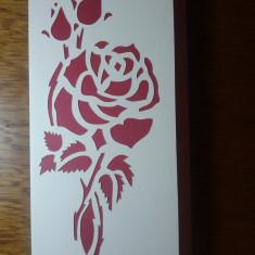 Felicitare manuala Trandafir 21 / Felicitari manuale / handmade