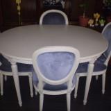 MASA EXTENSIBILA (sufragerie/ living),  din lemn masiv, stil LUDOVICK XVI